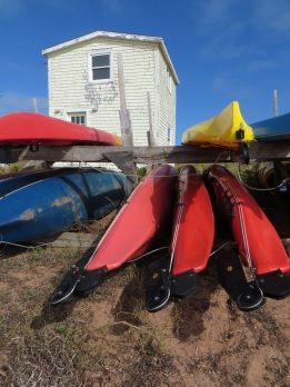 Kayaks in North Rustico