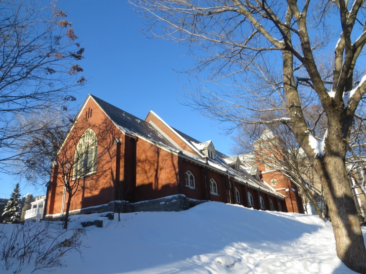 An Atwater church in the snow