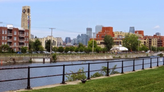 Lachine Canal in the summer