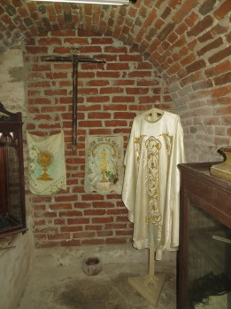 Old vestments in the catacombs