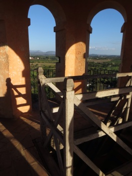 Rickety rails at the top of the tower