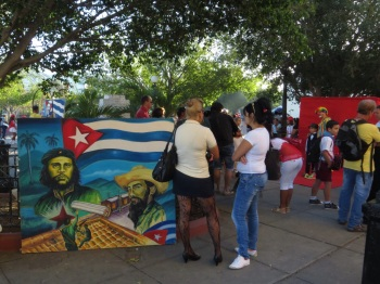Short skirts, fish net stockings, Che and Fidel sums up Cuba