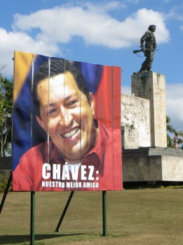Fidel likes to remind his people what a good friend Chavez has been