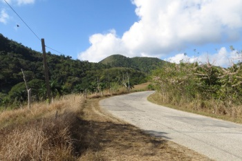 The road between Trinidad and Santa Clara
