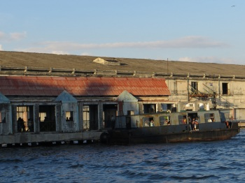 The rather ancient ferry in Havana