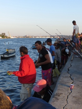 Fishermen on the Malecon