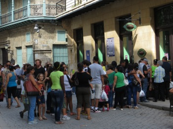 Queueing at the Chocolate House