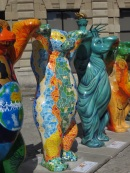 Some of the bears are very colourful