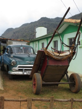 Outside a house in Vinales