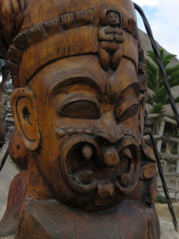 Part of a totem at the Museum