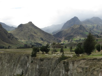 Mountains at Quilotoa