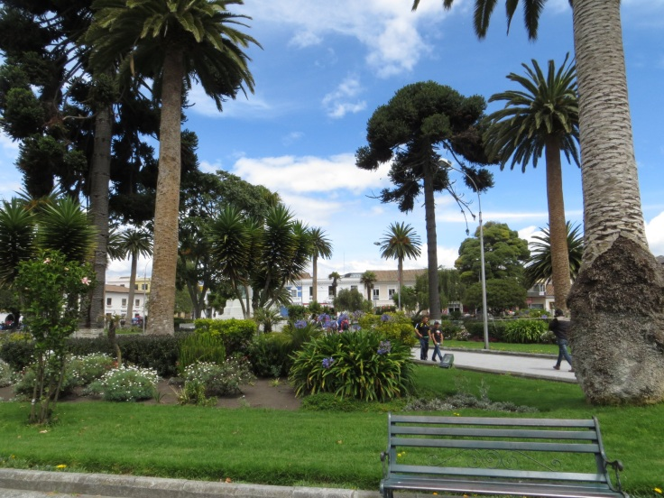Central park in Latacunga