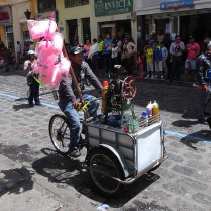 Candy floss for sale in Latacunga
