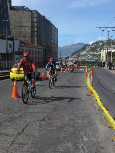Bicycle lane in Quito