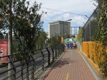 Cycle/pedestrian path in Quito