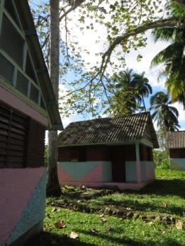 Holiday huts for Cubans to rent at the river campsite