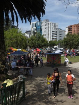 Lots of activity in Parque Carolina