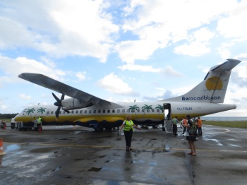 Our plane at Baracoa airport