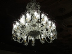 French chandelier in the President's Palace