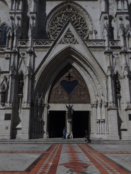 A side entrance of the Cathedral