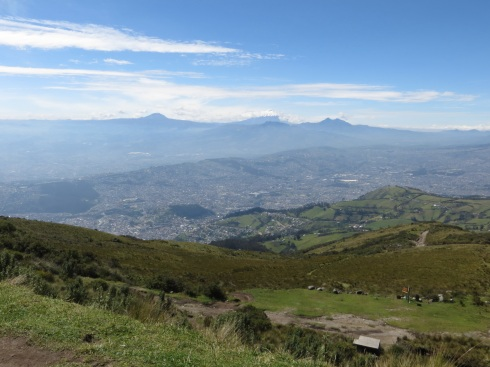 View from the top of the Teleferico towards Cotopaxi