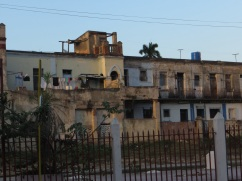 Houses behind the railway station in Camaguey