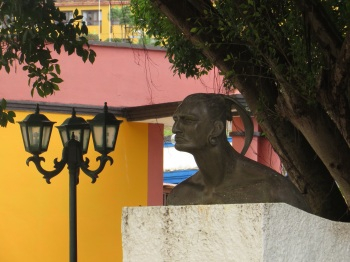 Statue of Hatuey, who rejected Catholism and the Spaniards and preferred to be burnt at the stake rather than go to heaven with the Catholics!