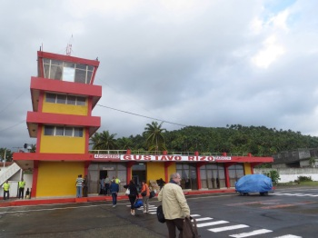 Arriving at Baracoa airport