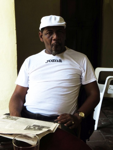 Cuban man with large cigar