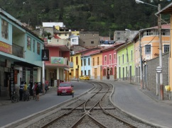 Colourful houses in Alausi
