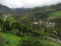 View of the valley in Alausi
