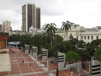 View from one of the 'sail' towers on the Malecon
