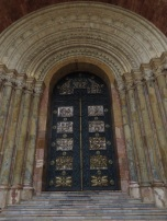 One of the doors of the new Cathedral