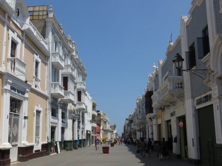 Colonial buildings in Trujillo