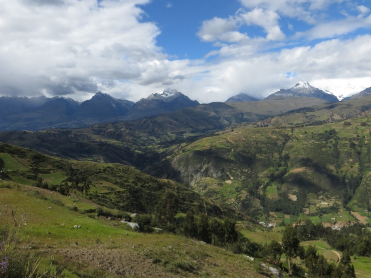 View towards the Cordillera Blanca