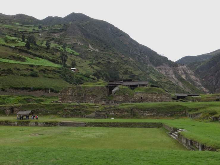 The archaelogical site at Chavin