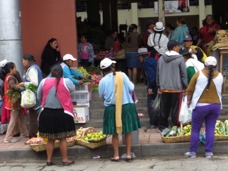 At the fruit and vegetable market