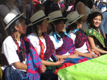 Local girls at the parade in Chordeleg
