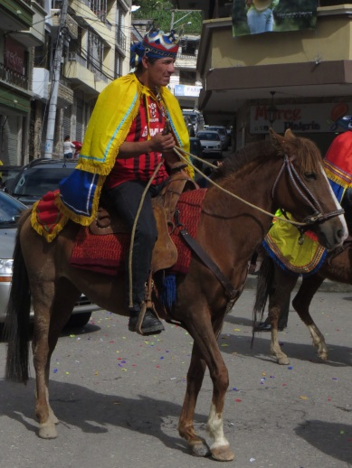 Horseman in the parade at Chordeleg