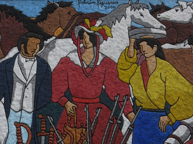 Part of a Simon Bolivar mural in Loja