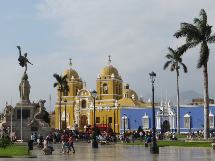 Plaza de Armas in Trujillo