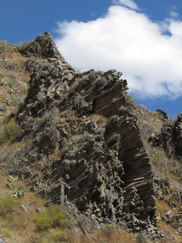 Unusual rock formation in the Colca Canyon