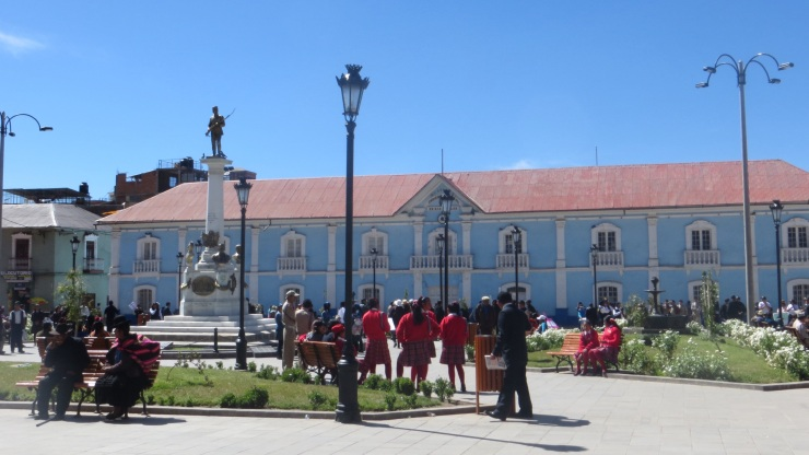 A plaza in Puno