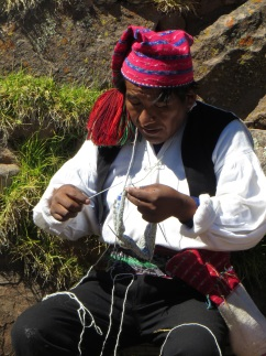 Knitting on Taquile