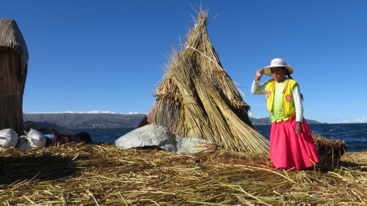A reed house in the Uros Islands