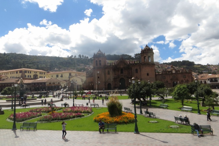 View of Plaza de Armas from the cafe