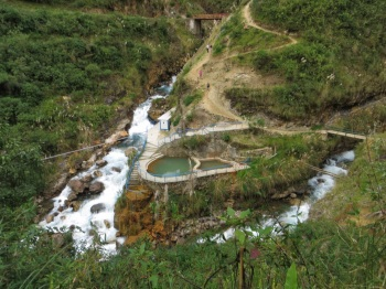 Track around the hot pools above the river