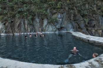 One of the hot pools at Santa Teresa