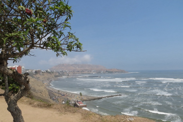 View from the clifftop at Barranco
