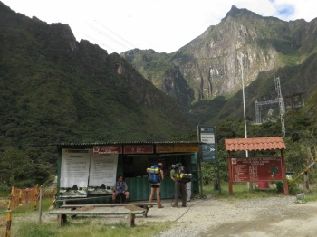 The entrance to Machu Picchu Park next to the Hydro Electric station